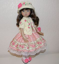 "GORGEOUS ROSES 5-pieces Outfit + SHOES for Dianna Effner Little Darling 13"" #DiannaEffner"