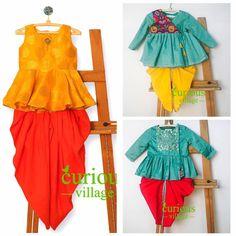 Fashion Tips For Toddlers Kids Dress Wear, Dresses Kids Girl, Girl Outfits, Kids Indian Wear, Baby Dress Design, Baby Frocks Designs, Kids Lehenga, Kids Suits, Designer Kids Clothes