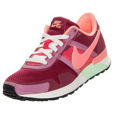 Women's Nike Air Pegasus 83/30 Casual Shoes | FinishLine.com | Noble Red/Sail/Arctic Green