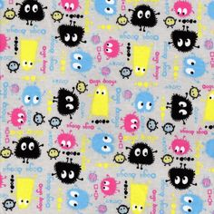 GRAY Ooga Booga Cotton Interlock Knit Fabric, by the yard, $13.99