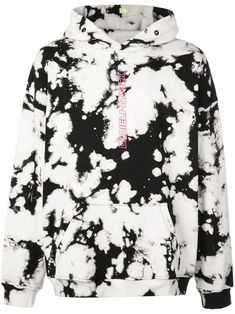 Acid white and pink cotton vertical logo hoodie from Daniel Patrick featuring a paint splatter effect, contrasting panels, a printed logo to the front, a relaxed fit and a ribbed hem and cuffs. Daniel Patrick, Tye Dye, White Hoodie, White Shop, Neue Trends, Size Clothing, Women Wear, Cute Outfits, Mens Fashion
