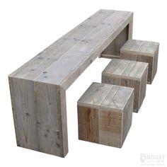 steigerhouten kindertafel Finn, oud hout en onbehandeld