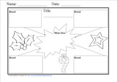 Free Winter Graphic Organizers