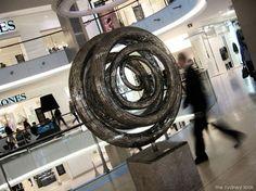 Stainless steel '6 ring' sculpture @ Westfield Bondi Junction  www.sculptura.com