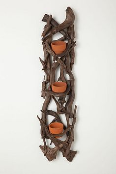 indoor herb garden next to/ across from a sunny window  Terracotta Trio Wall Planter #anthropologie
