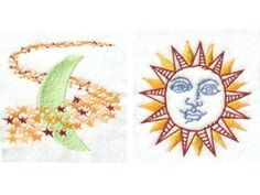 Sun Moon and Stars Machine Embroidery Designs http://www.designsbysick.com/details/sunmoonandstars