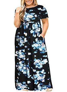 Buy Nemidor Women Short Sleeve Loose Plain Casual Plus Size Long Maxi Dress with Pockets: Shop top fashion brands Dresses at ✓ FREE DELIVERY and Returns possible on eligible purchases Plus Size Work Dresses, Work Dresses For Women, Nice Dresses, Long Dresses, Women's Dresses, Fashion Dresses, Vintage Long Dress, Very Short Dress, Long Shirt Dress