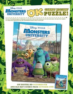 Monsters University Giant Jigsaw Puzzle!