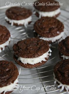 Chocolate Coconut Cookies, supposedly tastes like a soft coconutty oreo.  Awesome!
