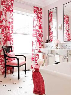 Hotel Style Modern Bathroom Decorating Ideas Creating Glamorous Look with Pink Color