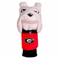 Soft plush mascot cover, fits your driver or fairway wood, nice embroidered logo on the chest area. Great gift, Go Bulldogs