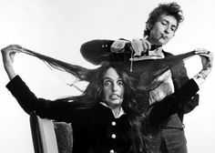 Bob Dylan and Joan Baez by Daniel Kramer, 1965