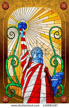 1548038b1ff 63 Best Stained Glass Patriotic and Flags images