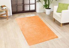 Home Cool Solid Colors Wind Dancer Collection Area Rugs 96 L Round Orange -- Click on the image for additional details.
