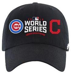 feb5448508f Men s Chicago Cubs  47 2016 Cubs V.S. Indians Dueling Clean-Up Adjustable  Hat