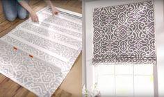 Turn Regular Wood Blinds Into DIY Roman Shades | DIY Cozy Home
