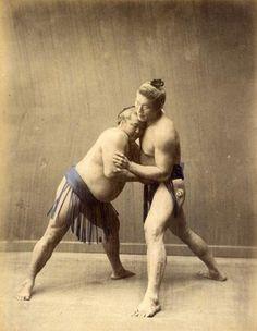 Baron Raimund von Stillfried [Attributed to]   Combat de Sumo, Japon   1880 (ca)