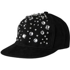 Monki Chelsea cap ($11) ❤ liked on Polyvore featuring accessories, hats, cap, snapbacks, black, black magic, snapback hats, star hat, black snap back hat and star caps