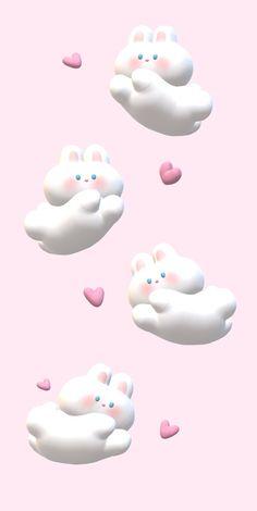 Cute Pastel Wallpaper, Soft Wallpaper, Cute Patterns Wallpaper, Heart Wallpaper, Wallpaper Iphone Cute, Kawaii Wallpaper, Disney Wallpaper, Wallpaper Backgrounds, Cute Cartoon Wallpapers
