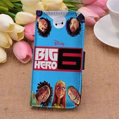 Big Hero 6 Poster CUSTOM PERSONALIZED WALLET FOR IPHONE 4 4S 5 5S 5C 6 6 PLUS 7 AND SAMSUNG GALAXY S3 S4 S5 S6 S7 CASE - GOGOLFNW.COM