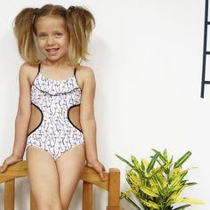 b314df0889 Little Pockets Collection · Minidunadu Girls Palm Trees Swimsuit #girls  #sglittlepockets #kidswimwear #kidsfashion #kidstyle #
