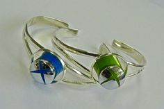 Recycled Xbox Bangle Handmade silver plated Bangle decorated with recycled xbox controller home button. ...