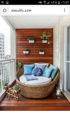Home OfficeBalcony design is agreed important for the see of the house. There are fittingly many beautiful ideas for balcony design. Here are many of the best balcony design. Apartment Balcony Decorating, Apartment Balconies, Apartment Living, Cozy Apartment, Apartment Ideas, European Apartment, Apartment Makeover, Apartments Decorating, Studio Apartment