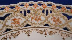 KPM Berlin Porcelain Reticulated Chinoiserie Scenic Plate Porzellan Teller Scene
