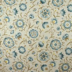 Floral Fabrics | Greenhouse Fabrics Floral Fabric, Floral Prints, Greenhouse Fabrics, Neutral Tones, Window Coverings, Deco, Stone, Cool Stuff, Anna