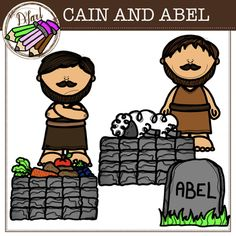 Kain Und Abel, Cain Y Abel, Sunday School Coloring Pages, Easel Activities, Professor, Bible Crafts, Favorite Bible Verses, School Lessons, School Colors