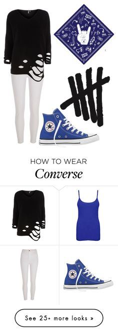 """""""5SOS! #3"""" by trix-g on Polyvore featuring Converse, WearAll, River Island, Dorothy Perkins and 5sos"""
