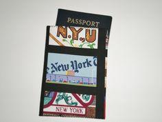 Passport Cover, New York Mini Wallet, Card Holder, Travel Accessory, Tissue…