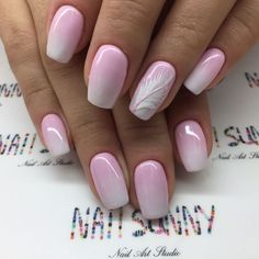 """7,639 Likes, 27 Comments - +7(919)7777-2-79MOSCOW  (@nail_sunny) on Instagram: """"Перо на Ombré """""""