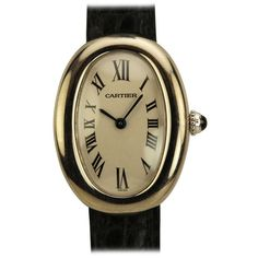 Cartier Lady's White Gold Baignoire Wristwatch circa 2000s | From a unique collection of vintage wrist watches at https://www.1stdibs.com/jewelry/watches/wrist-watches/