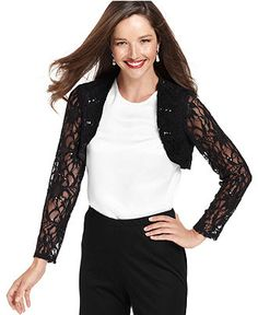 Onyx Jacket, Long-Sleeve Sequin Lace Bolero - Womens - Macy's http://www1.macys.com/shop/product/onyx-jacket-long-sleeve-sequin-lace-bolero?ID=712971=9572=PDPZ1