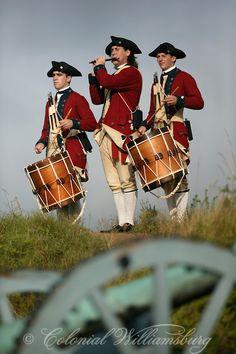 Colonial Williamsburg's Fife & Drum Corps at Yorktown Battlefield