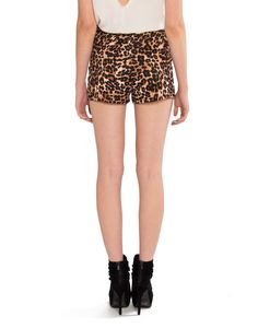 High Waisted Leopard Shorts