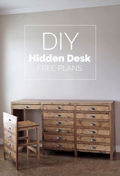 Ana White | Hidden Desk Apothecary Cabinet - DIY Projects