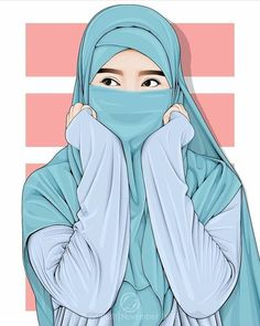 A scarf is central to the bit while in the garments of girls along with hijab. Best Facebook Profile Picture, Hijab Drawing, Islamic Cartoon, Islam Women, Anime Couples Drawings, Hijab Cartoon, Islamic Girl, Cute Couple Art, Cute Girl Wallpaper