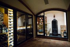 Largest bottle of wine in the world!  Approx. 7 ft. tall.  Very cool!  Wine Cellar by CellarMaker.