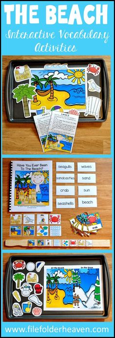 The Beach Adapted Books Unit and Interactive Vocabulary Activities Has just been updated!  In addition to the complete unit, a new adapted book, two new sorting activities, a sequencing activity and interactive vocabulary cards have just been added.