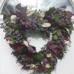 Heart Shaped Dried Flower and Eucalyptus Wreath For Valentines Day Mulberry Love by WreathsForDoor on Etsy https://www.etsy.com/listing/219712239/heart-shaped-dried-flower-and-eucalyptus