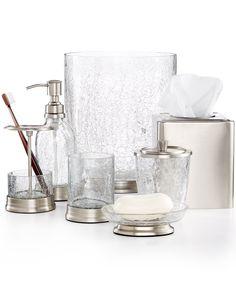 Paradigm Bath Accessories Heirloom Crackle Collection - Bathroom Accessories - Bed & Bath - Macy's