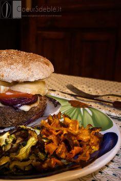 Burger di Melanzane con chips di Carote e Zucchine...