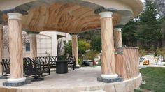 Ceiling Art, Pergola, Outdoor Structures, Decor, Travertine, Decoration, Outdoor Pergola, Decorating, Deco