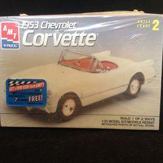 2 AMT Ertyl 1/25 Scale Car Kits 1953 Corvette & 1958 Belvedere #AMTERTL