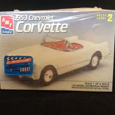 2 AMT Ertyl 1/25 Scale Car Kits 1953 Corvette & 1958 Belvedere #AMTERTL