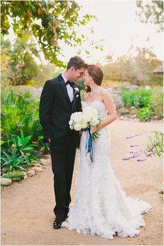 Southern California Bride: Romantic and Elegant Blue Franciscan Gardens Wedding Inspirational Shoot