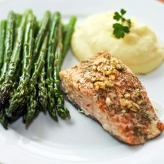 Garlic Dill Baked Salmon by daringgourmet •4 (4-6 oz) salmon fillets  •3 cloves garlic, minced  •2 tablespoons fresh dill, chopped  •1 teaspoon salt  •½ teaspoon freshly ground black pepper  •3 tablespoons freshly squeezed lemon juice  •¼ cup extra virgin olive oil  •2 tablespoons butter, divided in 4 equal pieces.