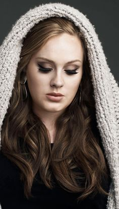 I love Adele so much her voice is flawless she is so beautiful and she actually knows how to do her makeup. She has shown the world that you dont have be super skinny to be amazing.